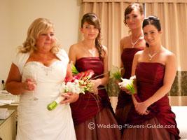 bridesmaids calla lily posy bouquets