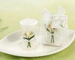 calla lily wedding favor candles