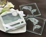 calla lily wedding coasters