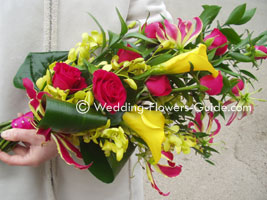 Calla lily sheaf bouquet