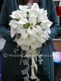 white calla lily shower bouquet
