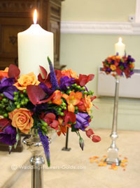 candle wedding decorations with flowers