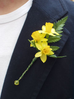 daffodil buttonhole