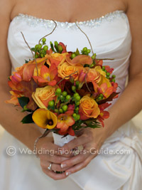 fall bridal wedding bouquet