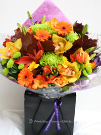 fall wedding thank you bouquet for mother of the bride