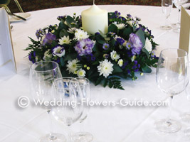 Freesia wedding centerpiece