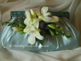 handbag wedding corsage