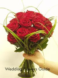 rose hand tie posy wedding  bouquet