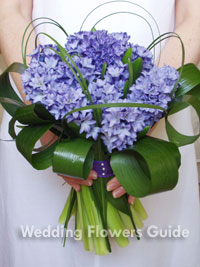 Hyacinth wedding bouquet for a spring wedding