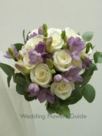 lilac posy wedding bouquet