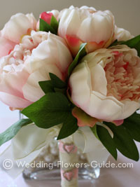 Silk peony posy bouquet.  Created for a Spring wedding
