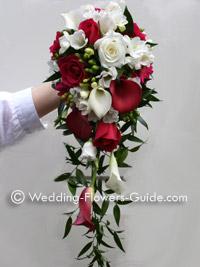 Pink calla lily cascade bouquet