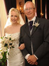 real wedding flowers - Hayley and father of bride