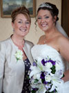 Reall wedding flowers - Jenni and mother of the bride