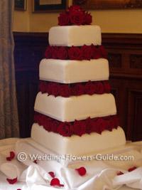 rose wedding cake flowers