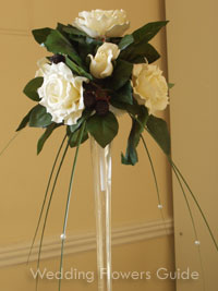 silk flower wedding centerpiece