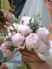 Spring season wedding flowers - peony bridal bouquet