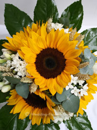 Sunflower wedding bouquet from a real wedding