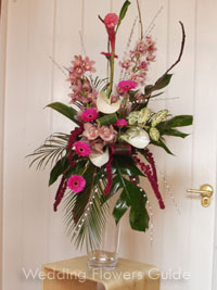 tropical foliage that is used in flower arranging