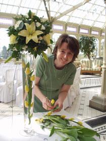 yellow tulip wedding flowers
