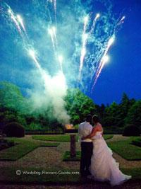 spectacular wedding fireworks