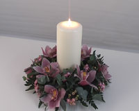 candle cymbidium orchid centerpiece