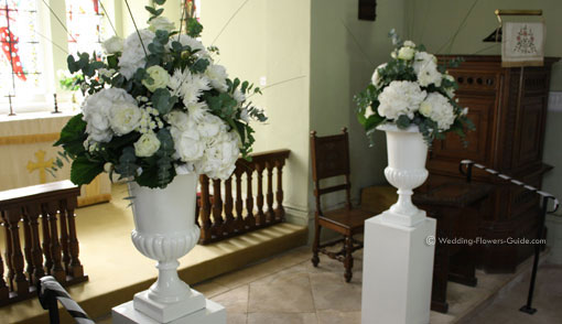 Wedding ceremony flowersml churches and chapels church wedding flowers at the altar junglespirit