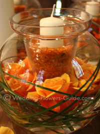 fall wedding candle decoration