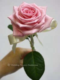 pink rose wand for a flowergirl