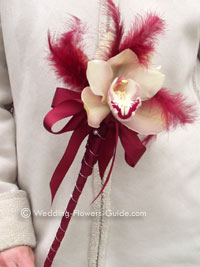 orchid flower wand for a young flowergirl