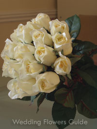 Silk wedding bouquets and silk flower arrangements silk wedding bouquet made of roses mightylinksfo