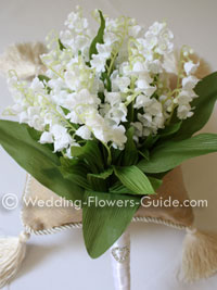 Silk wedding bouquet with Lily of the Valley flowers