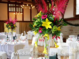 Wedding Flowers With Feathers