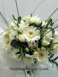 white posy bouquet
